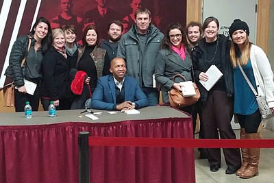 NIC students and faculty with Bryan Stevenson