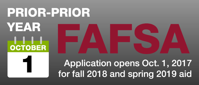 FAFSA Application opens Oct. 1, 2017