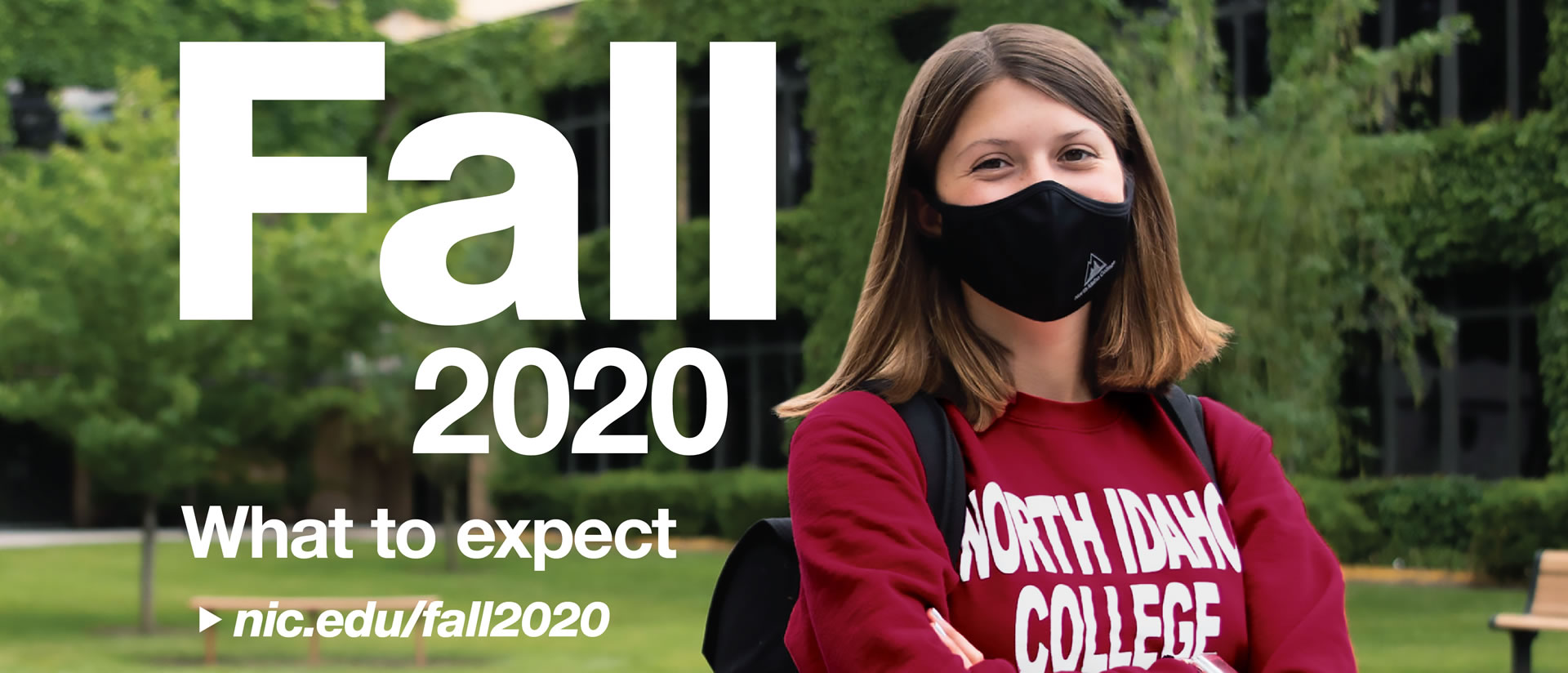 female student wearing a a mask - Fall 2020 - What to expect