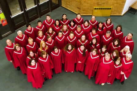 Pictured are members of the Cardinal Chorale (photo by Katie Eppenstein)