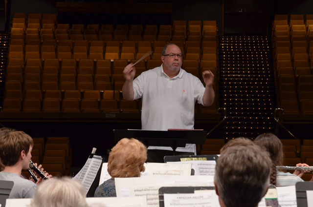 Band Director Terry Jones leads the NIC Wind Symphony