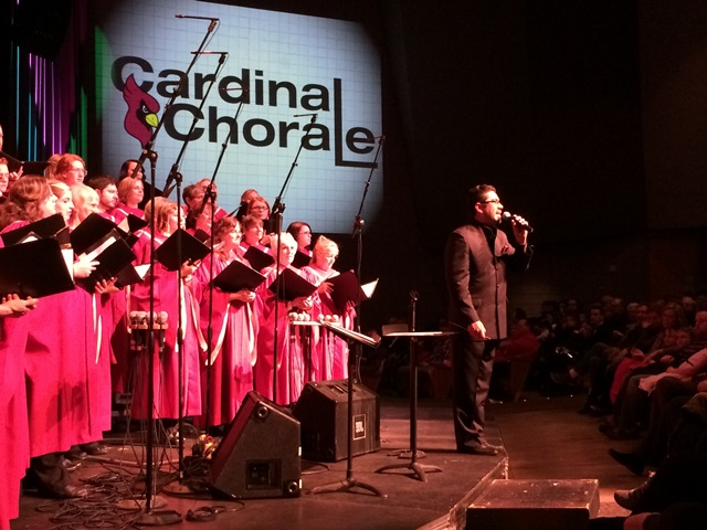Choral Instructor Max Mendez leads the NIC Cardinal Chorale at one of their performances