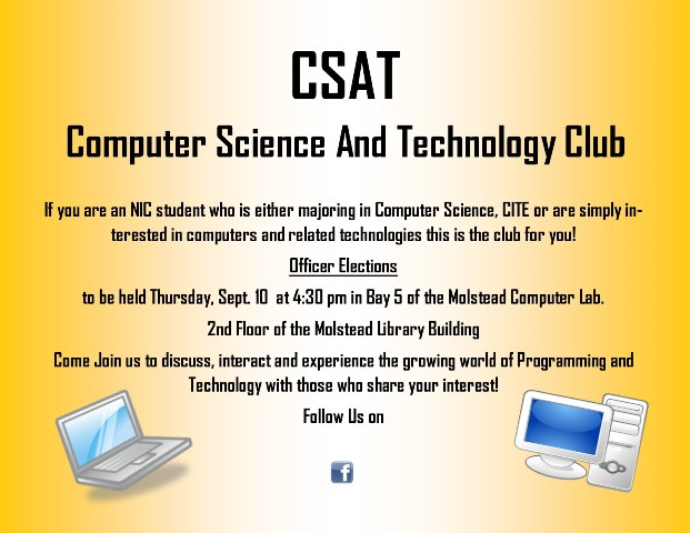 Computer Science and Technology Club Election Notice