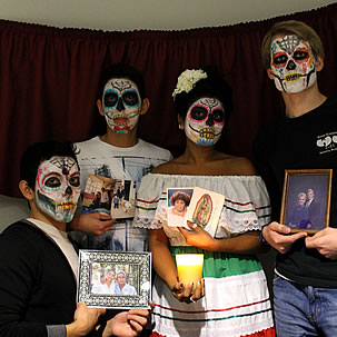 Day of the Dead Latino Club students