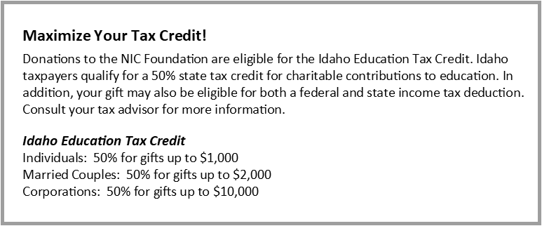 Maximize your tax credit!