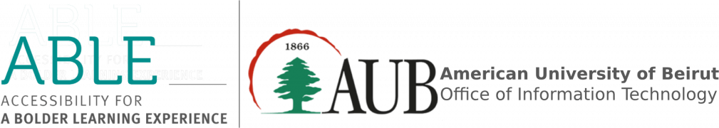American University of Beirut ABLE Summit 2019