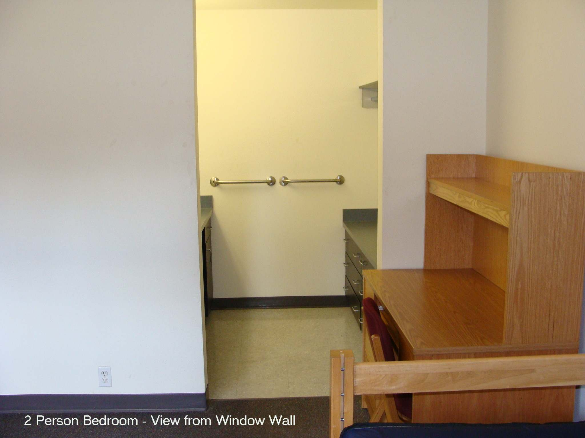 2 person bedroom - view from window wall