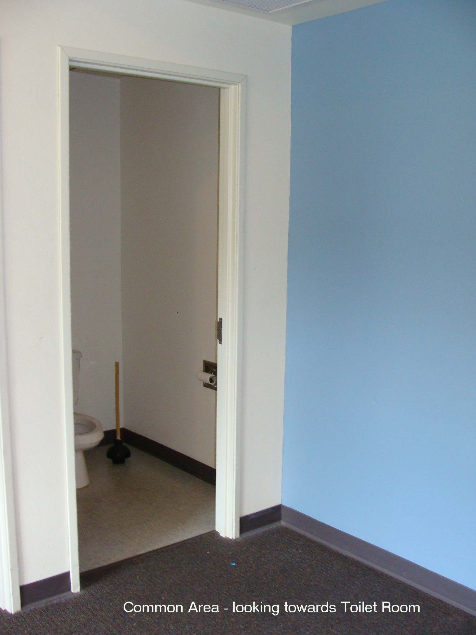 Common area - looking towards toilet room