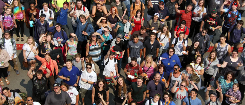 Students at Day of Welcome
