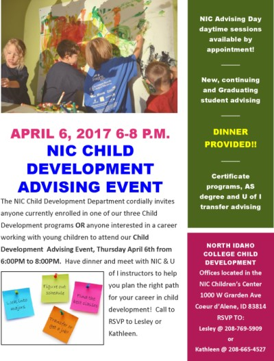 NIC Child Development Advising Event