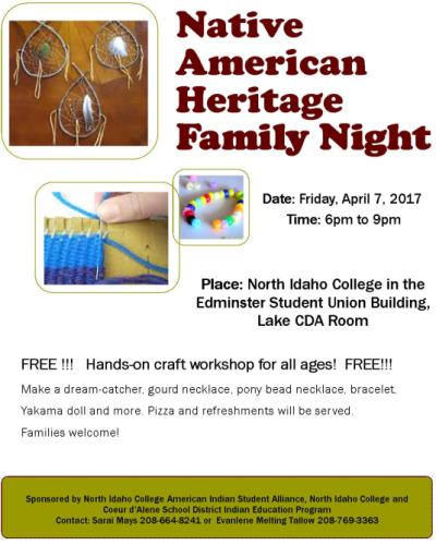 Native American Heritage Family Night