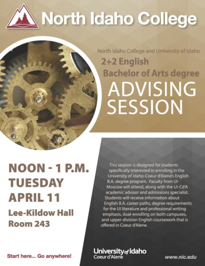2+2 English Bachelor of Arts degree Advising Session
