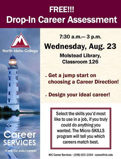 Free Drop-In Career Assesment