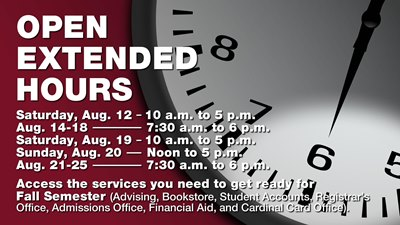Campus open extended hours ad