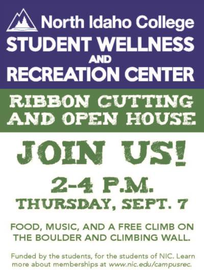 Student Wellness and Recreation Center Ribbon Cutting and Open House