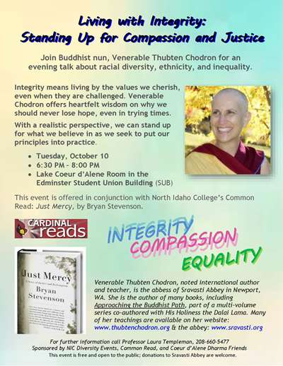 Cardinal Read - Lecture series, Venerable Thubten Chodrun: Exploring Race and Ethnic Diversity