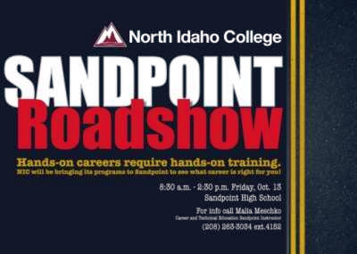 Sandpoint Roadshow - NIC will be bringing its programs to Sandpoint to see what career is right for!