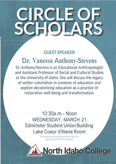 Circle of Scholars - Dr. Vanessa Anthony-Stevens