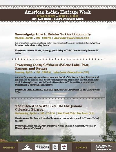 American Indian Heritage Week - Speaker Series
