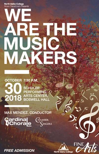 We are the music makers Chorale Concert