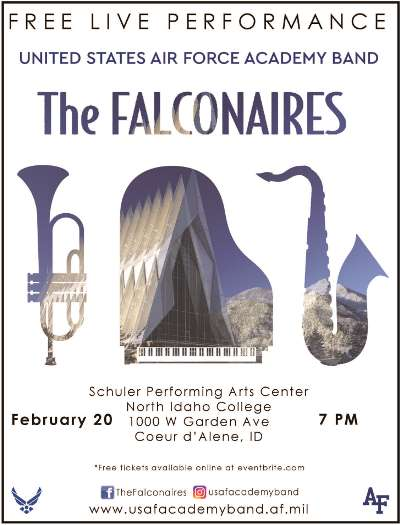 Free Live performace of the US Air Force Academy Band The Falconaires