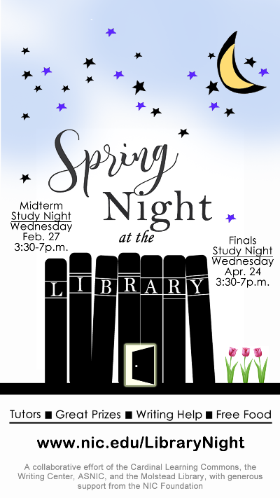 Spring Night at the Library