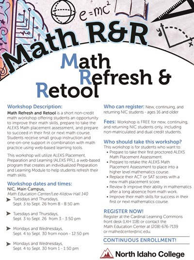 Math Refresh & Retool