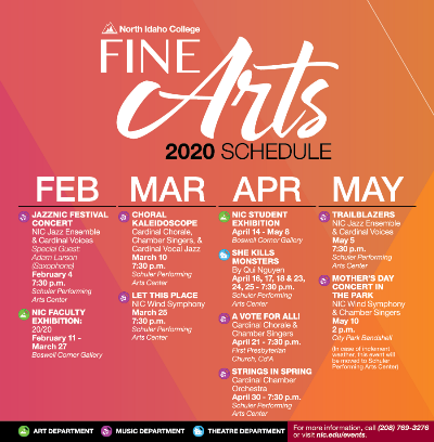 Fine Arts Events Calendar
