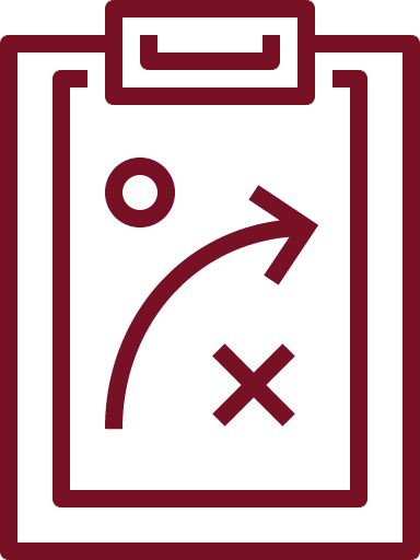 icon of plans on clipboard